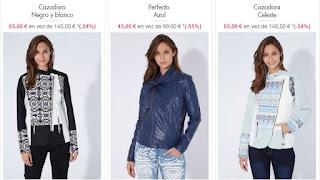 chaquetas y cazadoras desigual para mujer