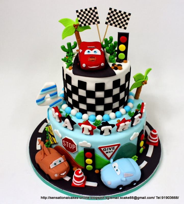 The Sensational Cakes Sports Car Racing Theme Birthday 3d