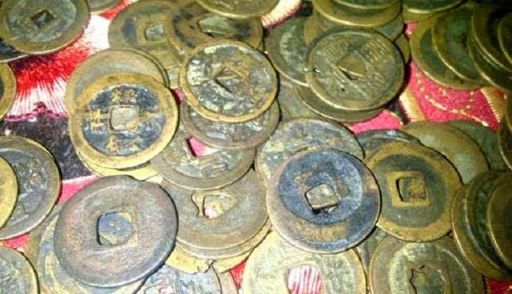 Tang Dynasty coins found in south Sumatra