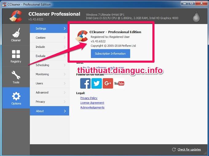 Download CCleaner v5.43.6522 Full Key miễn phí mới nhất