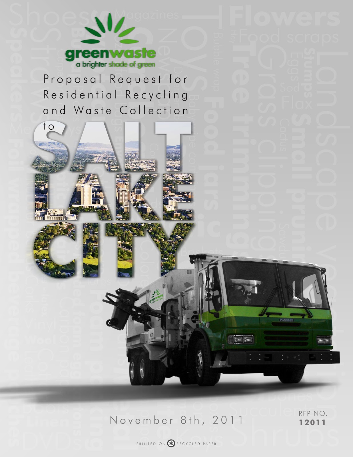 Salt Lake City Proposal Cover For Greenwaste Recovery