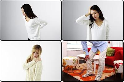 膝痛、腰痛、肩こり、偏頭痛