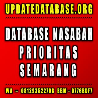 Jual Database Nasabah Semarang