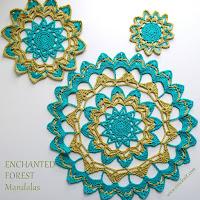 how to crochet, free crochet patterns, mandalas,