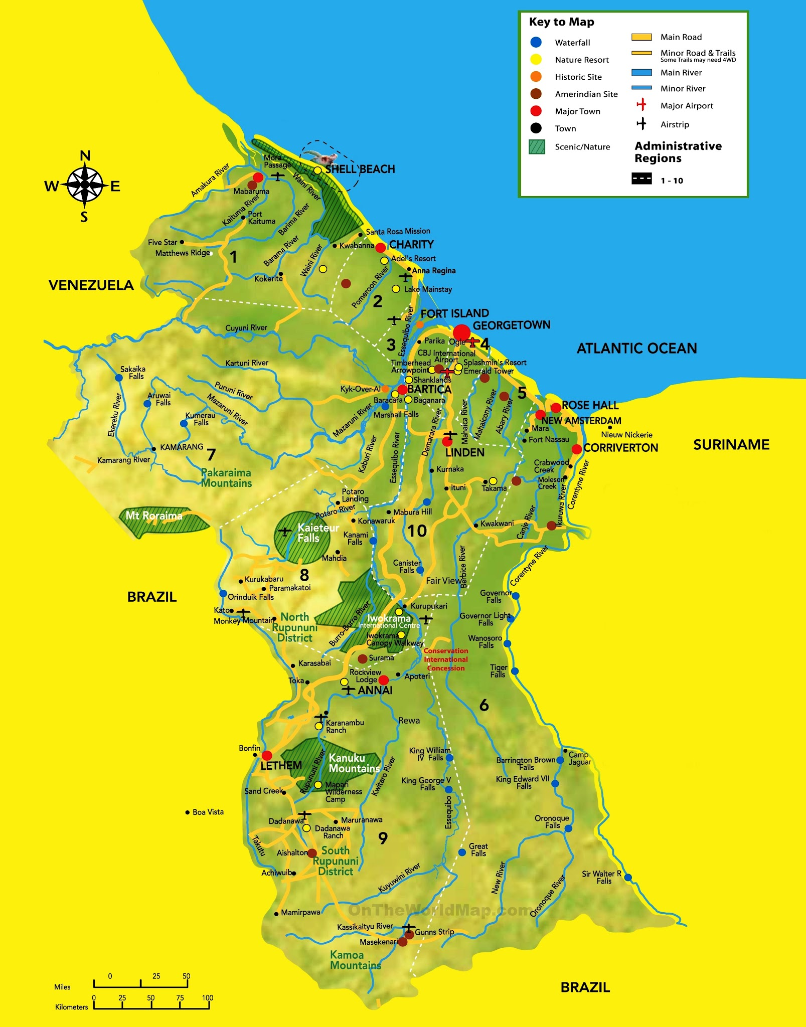 Co-operative Republic of Guyana Map - Car Radio | GPS on