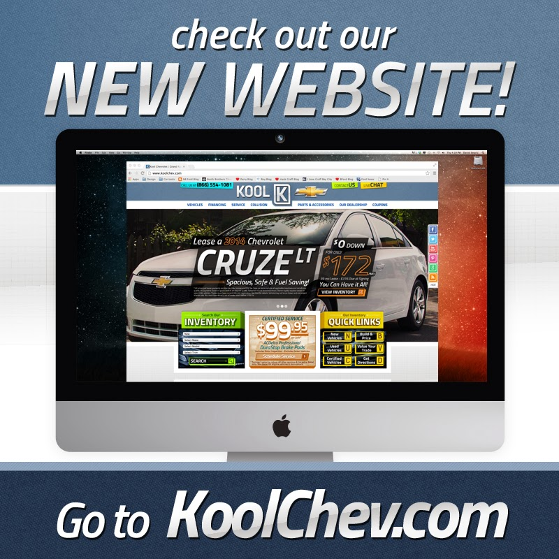 new kool chevrolet website is up and running. Black Bedroom Furniture Sets. Home Design Ideas