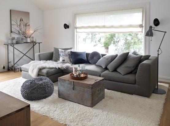 Decoraci n de salas de color gris c mo arreglar los for Muebles de sala color gris