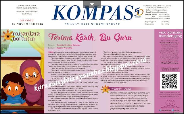 dimuat di Nusantara Bertutur Kompas Klasika edisi Minggu, 22 November 2015