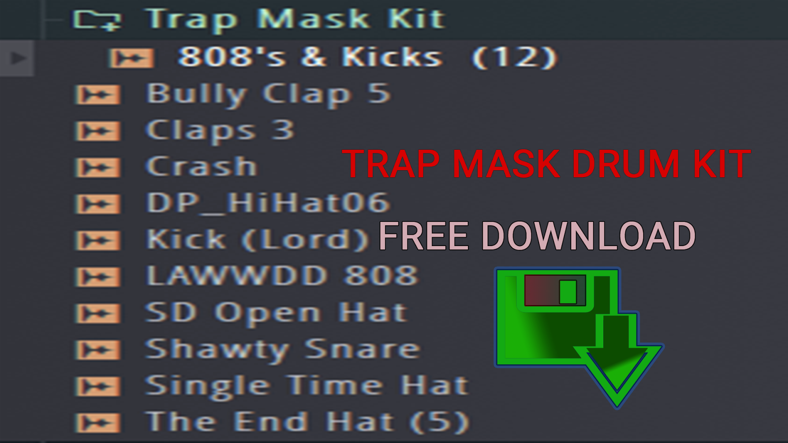 Trap Mask Drum Kit Free Download | Producer Support Center