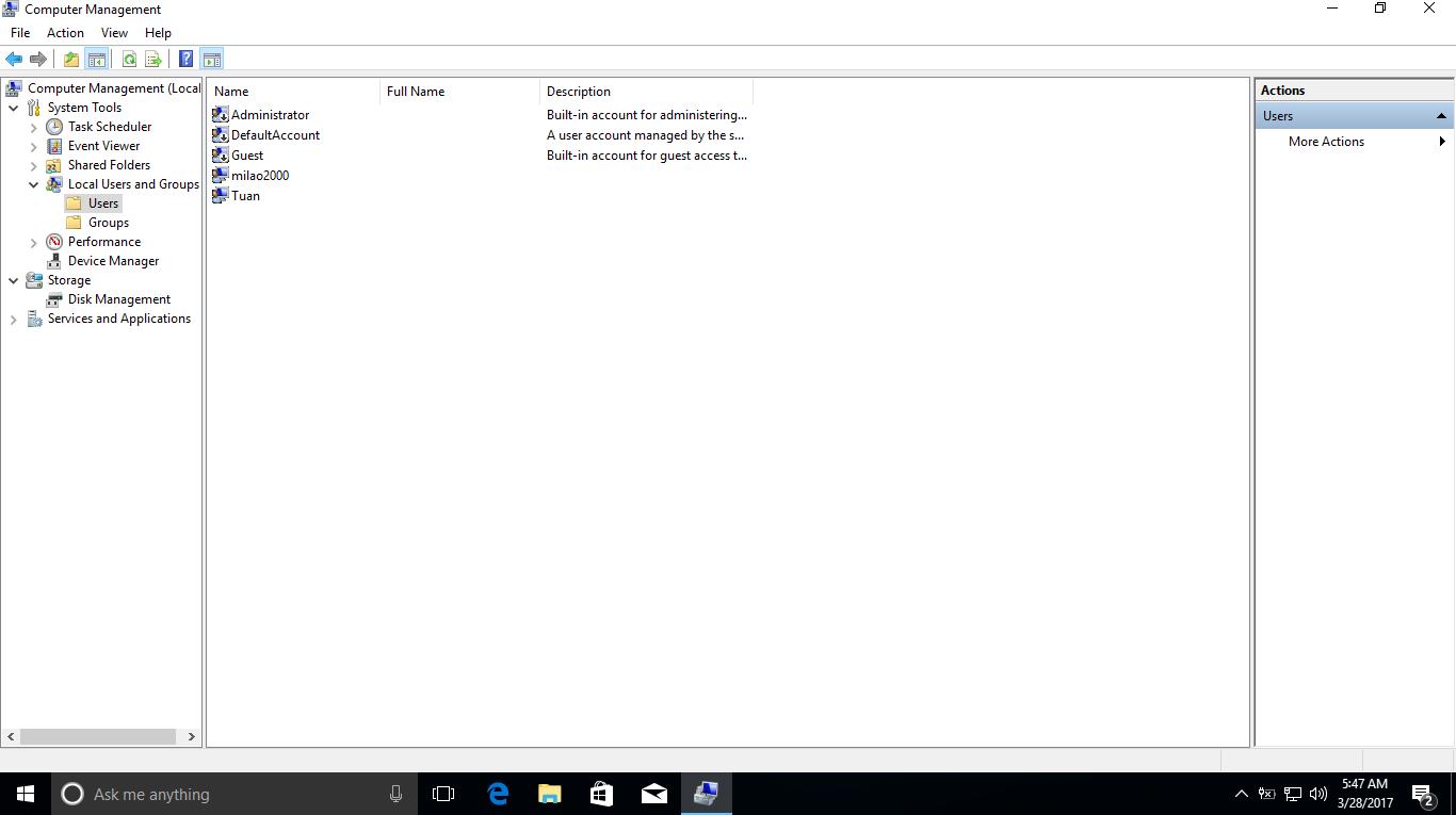 Cách bật hoặc vô hiệu hóa tài khoản trên Windows trong Win PE