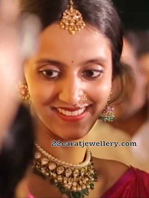 Lakxmi Pranathi in Kundan Choker