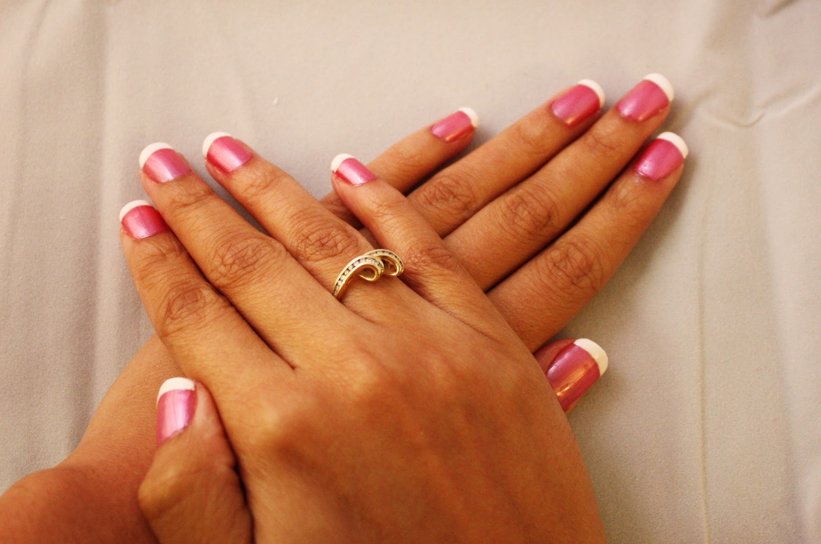 Nail Art by Kelly-Ann: Pink with White Tips