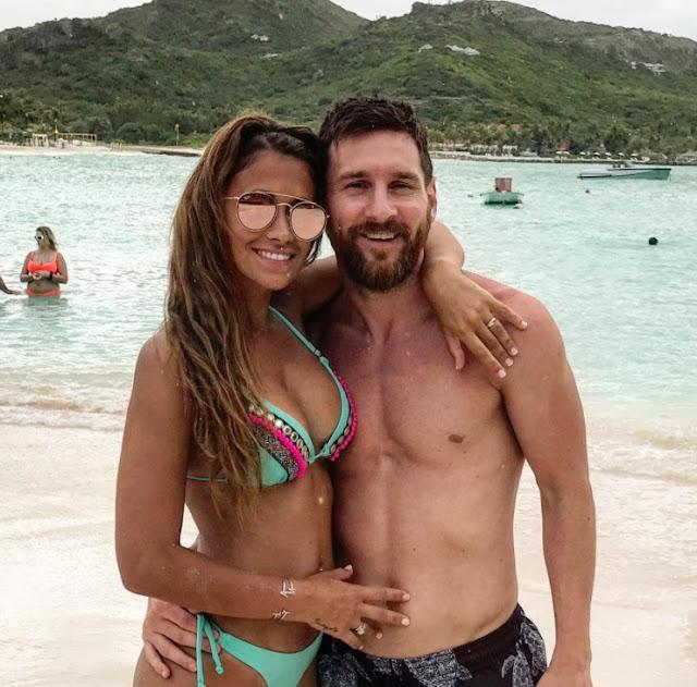 Antonella y Leo Messi de Luna de Miel en la Isla Antigua del Caribe