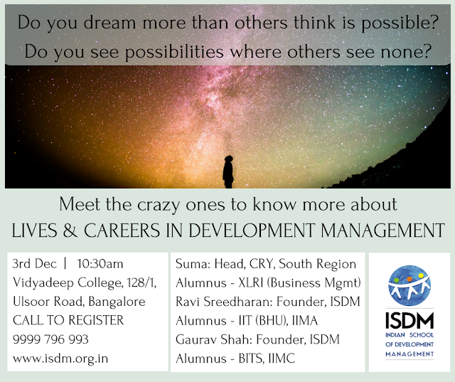 "Meet the crazy ones to know more about ""Lives & Career in Development Management"""