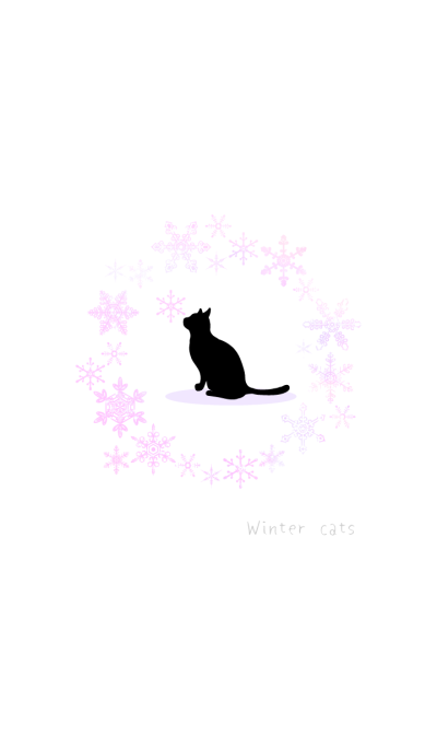 winter simple cats-crystal pink WV
