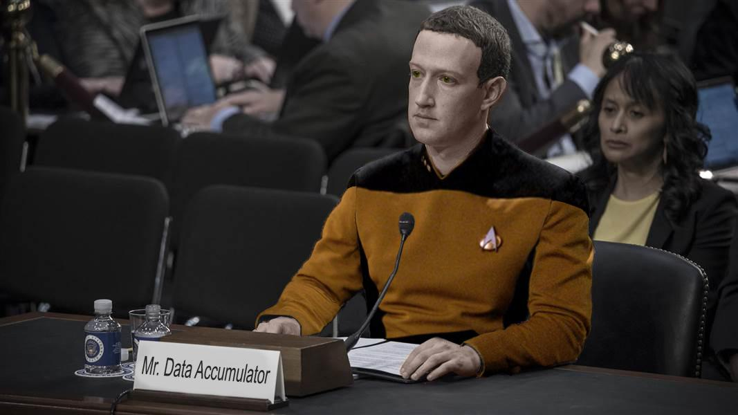 Mark Zuckerberg als Mr. Data Accumulator | Das Bild des Tages