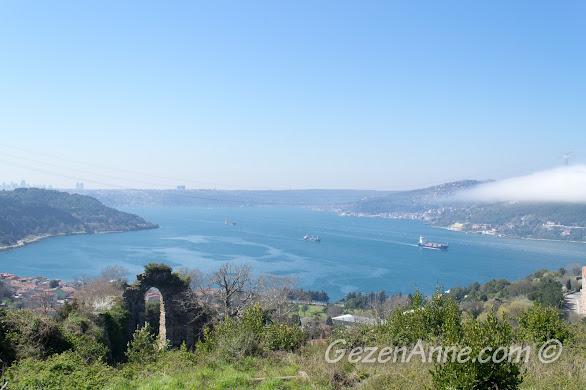 Anadolu Kavağı Yoros Kalesi'nden İstanbul boğazı manzarası
