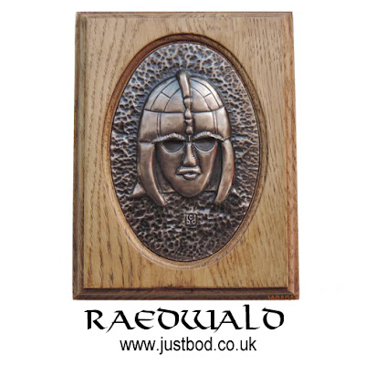 Raedwald Anglo Saxon Art Wall Plaque in bronze and oak