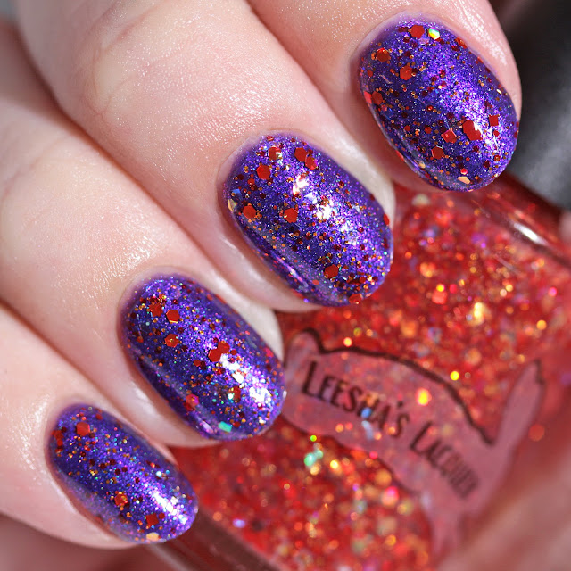 Leesha's Lacquer Red Viper over Space & Time