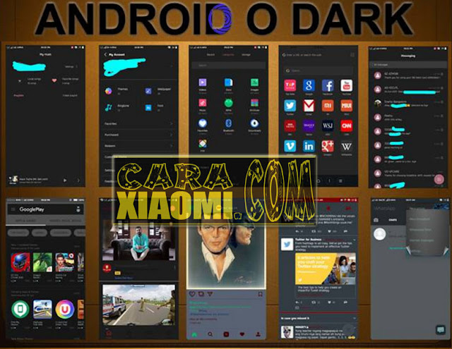 Download Tema MIUI Mod Theme Android O Dark Mtz For Xiaomi Terbaru