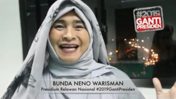 'Proud of you Bunda Neno, Semangatmu Membuat Makin Bersemangat #2019GantiPresiden'