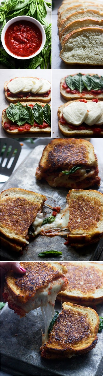 Pizza Margherita Grilled Cheese Healthy Recipe