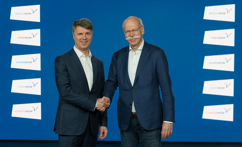 BMW and Daimler invest €1 billion in joint mobility services provider