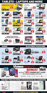 Visions Electronics Flyer Canada November 16 - 22, 2018 Black Friday