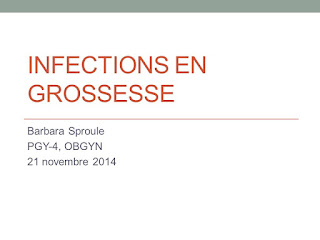 Infections en grossesse