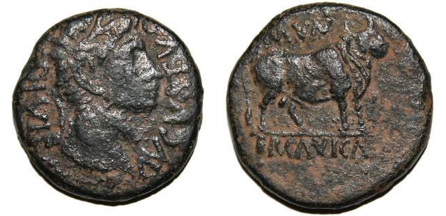 Monedas de la ciudad romana de Ercávica 002