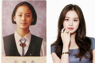 foto pre debut masa kecil kim tae hee