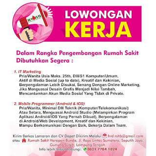 Bursa Lowongan Rumah Sakit Harapan Bunda Lampung Tengah
