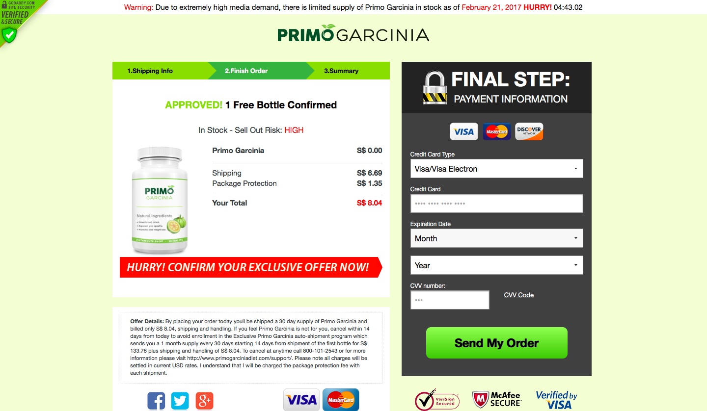 Primo Garcinia Review Scam
