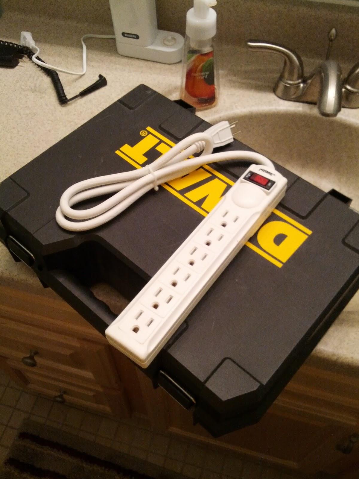 Mark's Project Blog: Ten-minute Hack: Bathroom Power