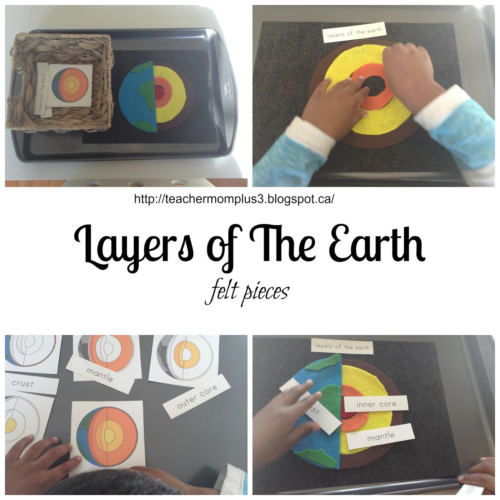 Teachermomplus3 Layers Of The Earth Felt