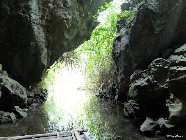 reserve van long ninh binh vietnam campagne baie halong terrestre bateau barque bambou sampan grotte riviere