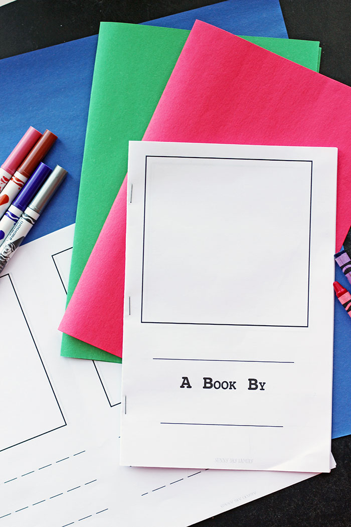 Create A Children S Book Cover : Make your own book for kids free printable sunny day