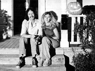 John Carpenter y Debra Hill en el rodaje de Halloween - 1978