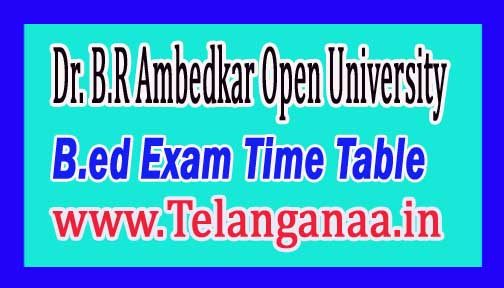 BRAOU B.Ed (SE) 1st Sem Time Table Dec/Jan-2017 Dr.B.R.Ambedkar Open University