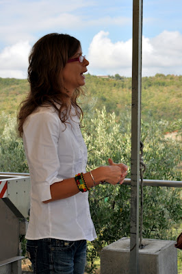 Valentina, our tour guide at Capanelle in Gaiole in Chianti, Italy - Photo by Taste As You Go