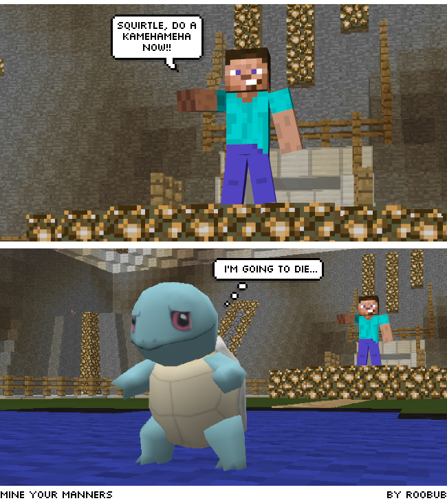 Pokemon Squirtle minecraft comic