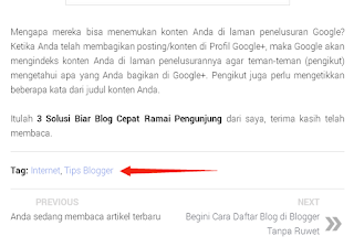 Label di bawah posting blog