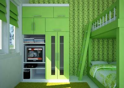 warna cat kamar yang sempit tapi bagus