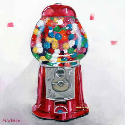 gumball-machine-oil-painting-by-merrill-weber