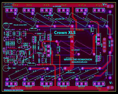 PCB Power Amplifier crown XLS