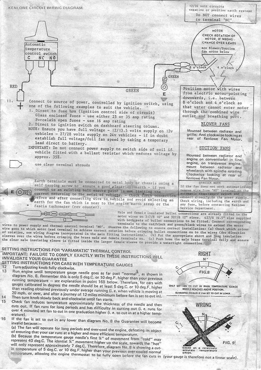 Kenlowe Fan Wiring Diagram Detailed Schematics How To Wire Electric Fitting A Unifan Classic Opel Spares Be Cool Fans
