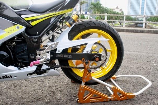 Modifikasi Ninja 250 FI Model Gambot Jakarta Barat Terbaru 2014