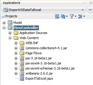 Export ViewObject data to Excel File Using Apache POI in Oracle ADF