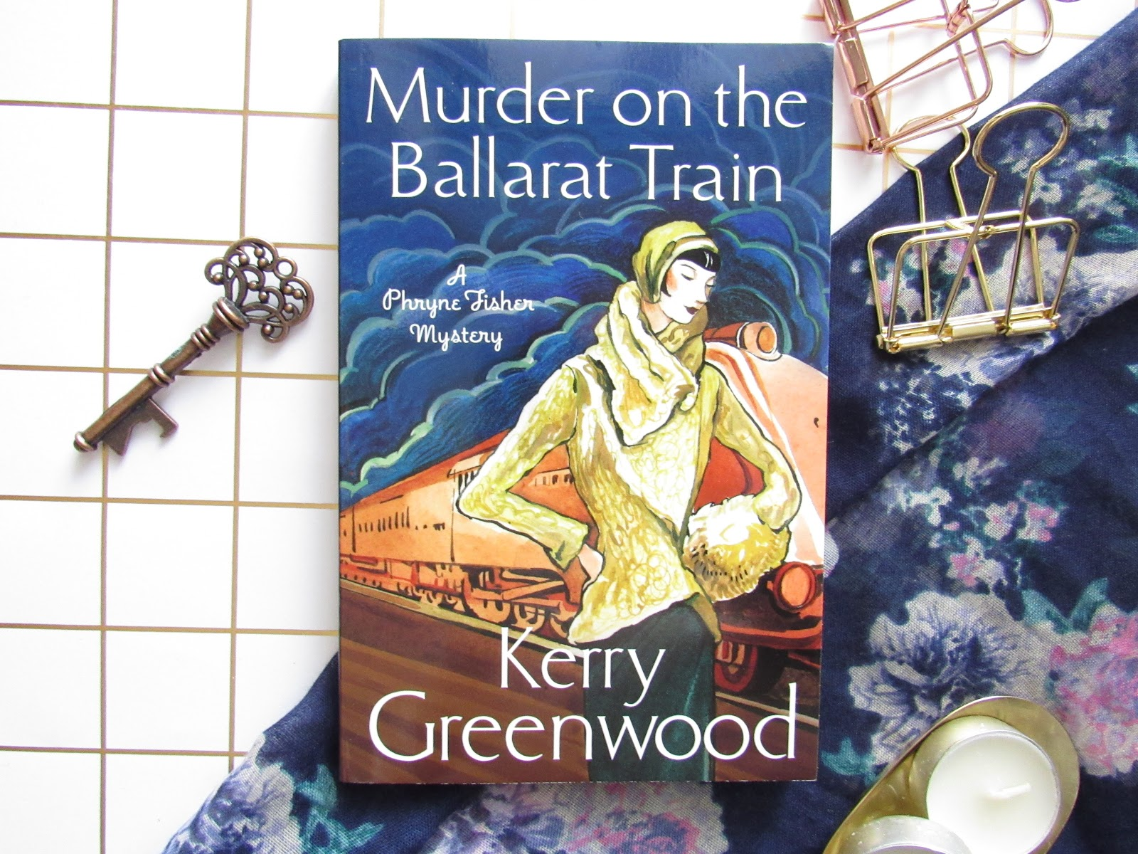 Blooming Fiction, lifestyle blog, Murder On The Ballarat Train book review