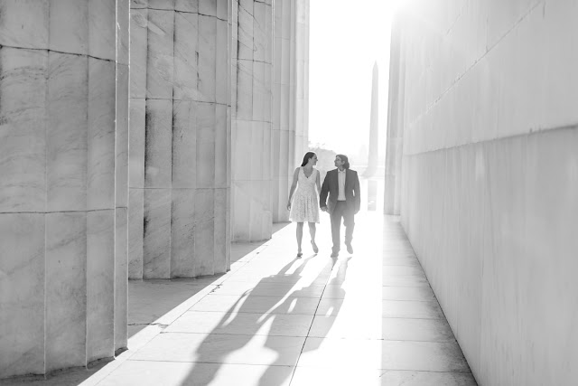 DC Lincoln Memorial Engagement Session photographed by Maryland wedding photographer Heather Ryan Photography